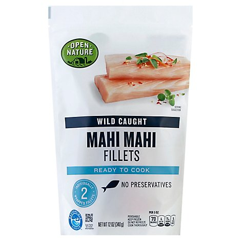 Open Nature Mahi Mahi Fillets Wild Caught - 12 Oz