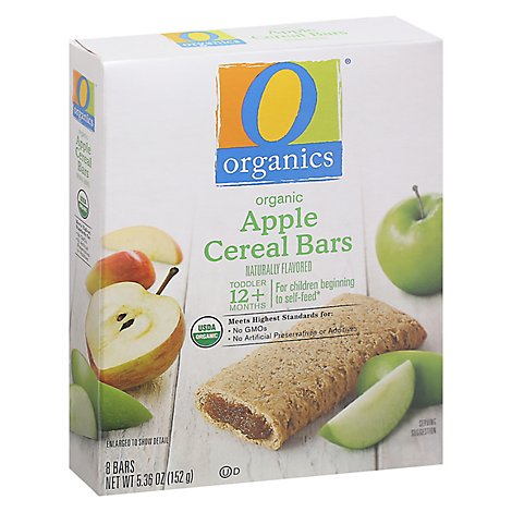 O Organics Organic Cereal Bars Apple - 8-0.67 Oz
