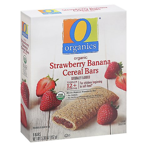 O Organics Organic Cereal Bars Strawberry - 8-0.67 Oz