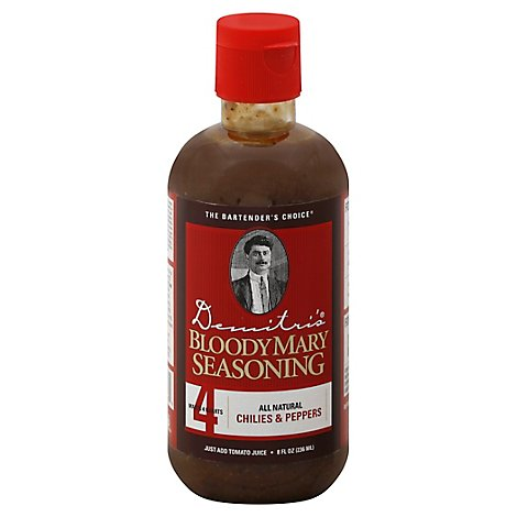 Demitris Bloody Mary Seasoning Chilies & Peppers - 8 Fl. Oz.