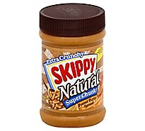 SKIPPY Natural Peanut Butter Spread Super Chunk Extra Crunchy - 15 Oz