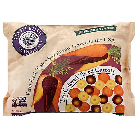 Stahlbush Island Farms Carrots Sliced Tri Colored - 10 Oz