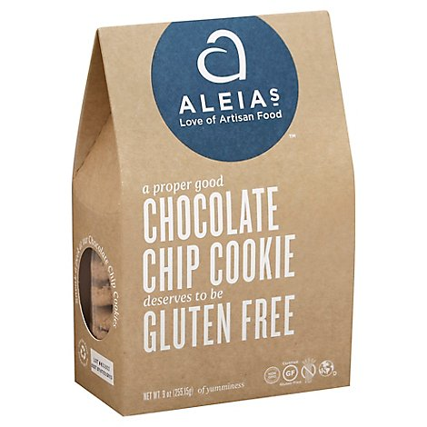 Aleias Cookies Chocolate Chip Gluten Free - 9 Oz