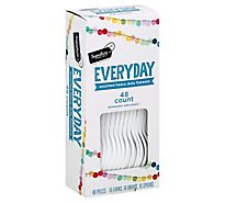 Signature SELECT Flatware Everyday Assorted Heavy Duty 16 Forks 16 Knives 16 Spoons - 48 Count