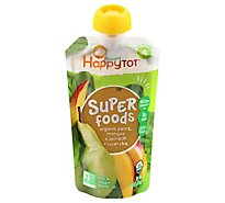 Happy Tot Organics Organic Super Foods Blend Pears Mangos & Spinach + Super Chia - 4 Oz