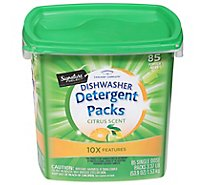 Signature SELECT Detergent Packs Dish Citrus Scent Tub - 85 Count