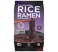Lotus Foods Rice Ramen with Miso Soup Forbidden - 2.8 Oz