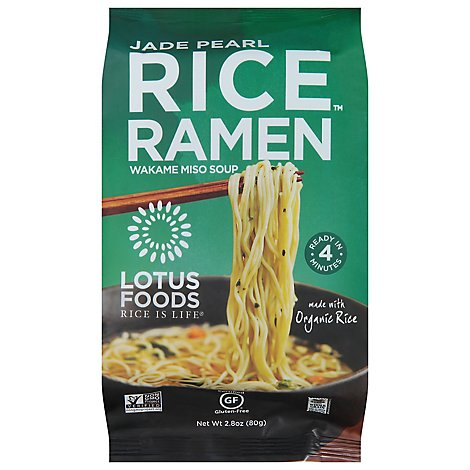 Lotus Foods Rice Ramen with Miso Soup Jade Pearl - 2.8 Oz