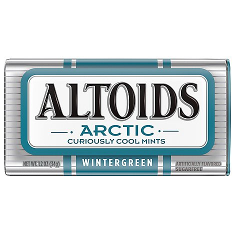 Altoids Arctic Wintergreen Sugarfree Mints Single Pack 1.2 Oz