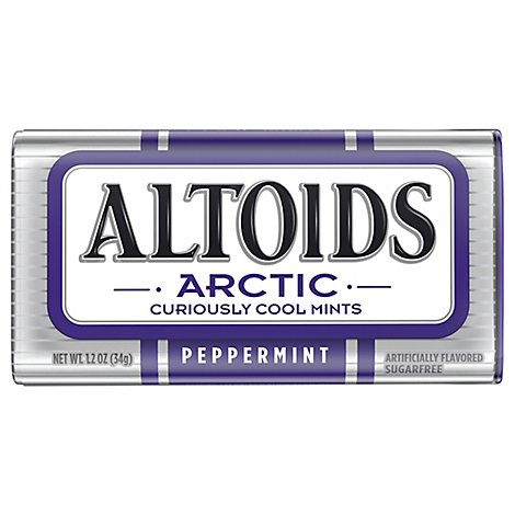 Altoids Arctic Peppermint Sugarfree Mints Single Pack 1.2 Oz