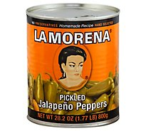 La Morena Pickled Jalapeno Peppers Can - 28.2 Oz