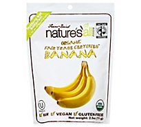 Natures All Foods Banana Organic - 2.5 Oz