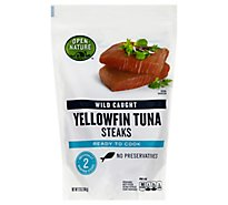 Open Nature Fish Wild Caught Yellowfin Tuna Steaks Frozen - 12 Oz