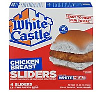 White Castle Microwaveable Chicken Breast Sandwiches - 4 Count