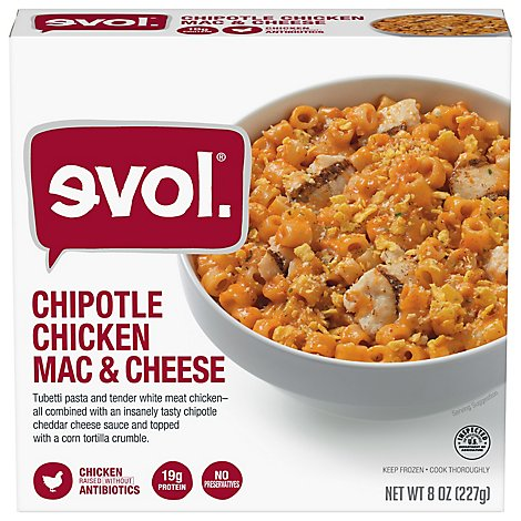 Evol All Natural Mac & Cheese Chipotle Chicken - 8 Oz