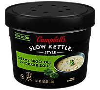 Campbells Slow Kettle Style Soup Bisque Creamy Broccoli Cheddar - 15.5 Oz