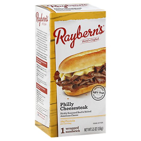 Rayberns Philly Cheesesteak - 5.5 Oz