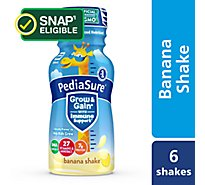 PediaSure Grow and Gain 6 pk Kids Nutritional Shake Ready-to-Drink Banana - 8 fl oz