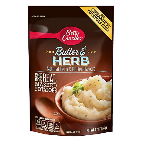 Betty Crocker Potatoes Butter & Herb Pouch - 4.7 Oz