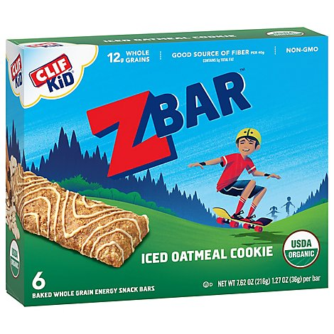 CLIF Kid ZBar Organic Iced Oatmeal Cookie - 6-1.27 Oz