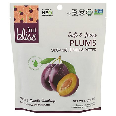 Fruit Bliss French Agen Plums Organic - 5 Oz