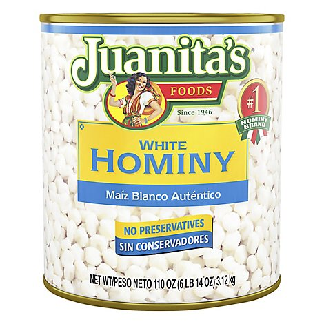 Juanitas Foods Hominy White Can - 105 Oz