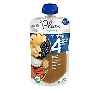 Plum Organics Organic Tots Mighty 4 Puree Sweet Potato Carrot Blueberry Apple Greek Yogurt - 4 Oz