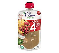 Plum Organics Organic Tots Mighty 4 Puree Kale Strawberry Amaranth Greek Yogurt - 4 Oz