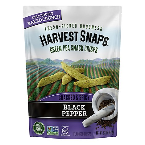 Harvest Snaps Snapea Crisps Black Pepper - 3.3 Oz