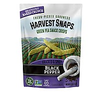 Harvest Snaps Black Pepper Green Pea Snack Crisps - 3.3 Oz