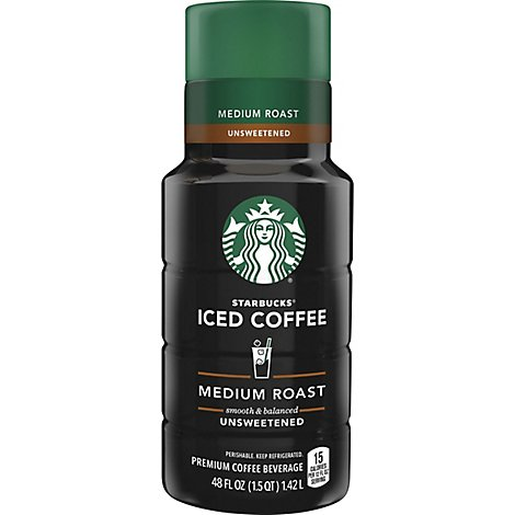 Starbucks Iced Coffee Medium Roast Unsweetened - 48 Fl. Oz.