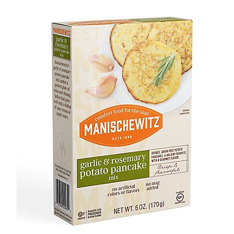 Manischewitz Garlic & Rosemary Potato Pancake - 6 Oz