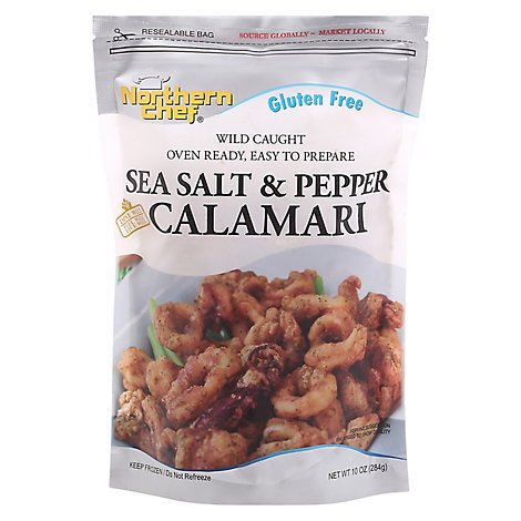 Northern Chef Oven Ready Gluten Free Sea Salt & Pepper Calamari - 10 Oz.