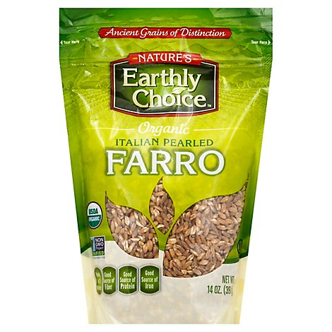 Natures Earthly Choice Organic Farro Italian Pearled - 14 Oz