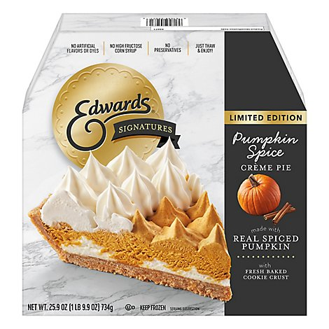 EDWARDS Pie Creme Pumpkin Box Frozen - 25.9 Oz