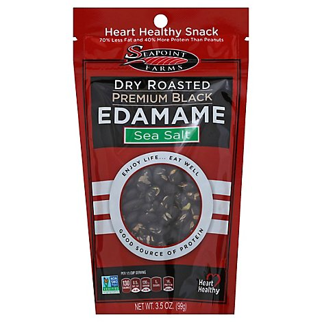 Seapoint Farms Dry Roasted Premium Black Edamame - 3.5 Oz