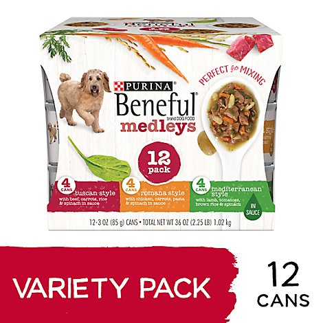 Beneful Dog Food Medleys Variety Pack Box - 12-3 Oz