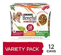 Beneful Dog Food Wet Medleys Variety Pack - 12-3 Oz