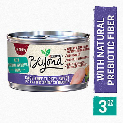 Beyond Cat Food Wet In Gravy Turkey Sweet Potato & Spinach - 3 Oz