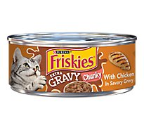 Friskies Cat Food SauceSations Chicken Dinner In Garden Sauce Can - 5.5 Oz