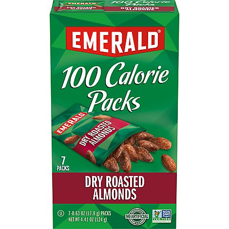 Emerald 100 Calorie Packs Almonds Dry Roasted - 7-0.62 Oz
