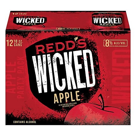 Redds Wicked Apple Beer Ale 8% ABV In Cans - 12-10 Fl. Oz.