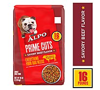 ALPO Prime Cuts Dog Food Adult Savory Beef Flavor Bag - 16 Lb