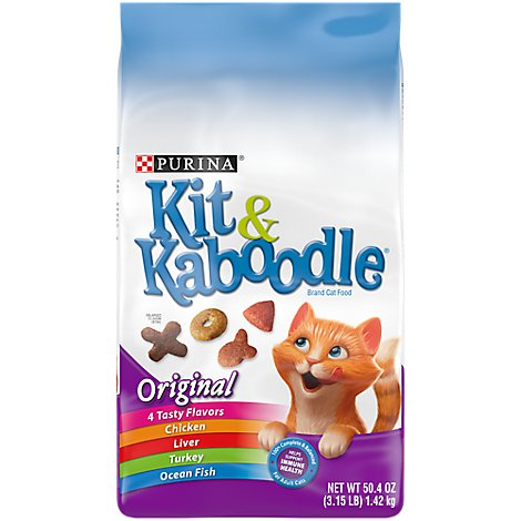 Kit & Kaboodle Cat Food Dry Original Chicken Liver Turkey & Ocean Fish - 3.15 Lb