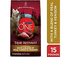 Purina ONE SMARTBLEND Dog Food Premium True Instinct Turkey & Venison Bag - 15 Lb