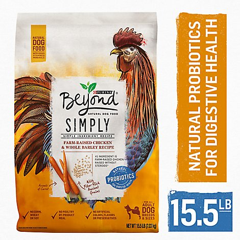 Beyond Dog Food Dry Simply White Meat Chicken & Whole Barley - 15.5 Lb