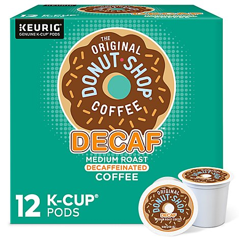 Donut Shop Coffee Medium Roast Extra Bold Decaffeinated K-Cup Packs - 12-0.39 Oz