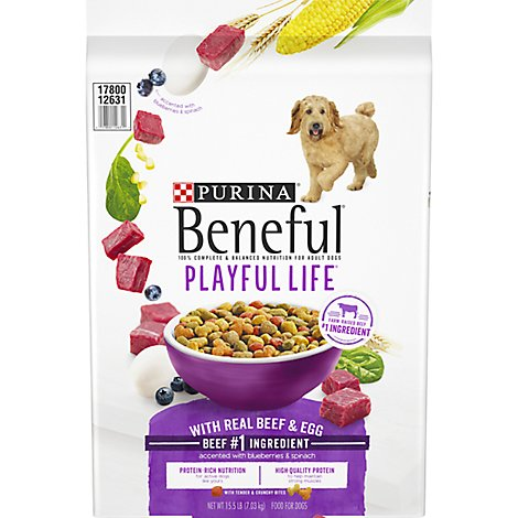 Beneful Dog Food Playful Life With Real Beef & Egg Bag - 15.5 Lb