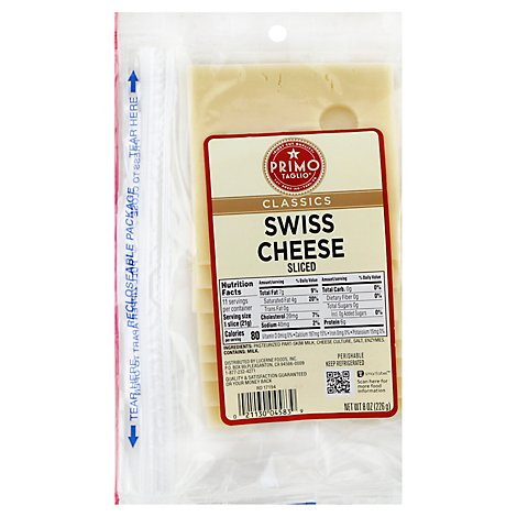 Primo Taglio Classics Cheese Swiss Sliced - 8 Oz