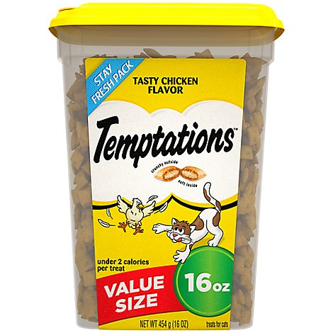 Temptations Treats for Cats Tasty Chicken Flavor Value Size Tub - 16 Oz